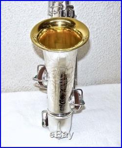 1924 New Wonder Series I C. G. Conn Alto Sax, Silver & Gold Plated, S/N 139149