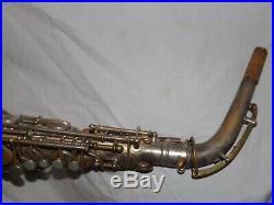 1925 Conn New Wonder Pre-Chu Alto Sax/Saxophone, Worn Silver, Plays Great