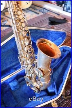 1926 Buescher True Tone Silver Plated Alto Sax (Brand New Case and Mouthpiece)