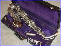 1927 Buescher True Tone Alto Sax/Saxophone, Silver, Beautiful Original Condition