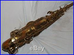 1927 Conn New Wonder II Chu Alto Sax/Saxophone, Mostly Bare Brass, Plays Great