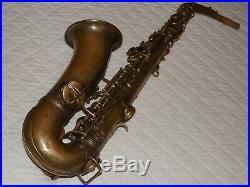 1929 Conn New Wonder II Chu Alto Sax, Bare Brass, Recent Pads, Plays Great