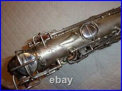 1930 Conn New Wonder II Chu Alto Sax/Saxophone, Original Silver, Plays Great