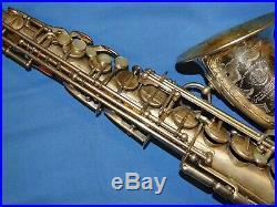 1937 SELMER Paris Balanced Action Silver Engraved Alto Sax Saxophone Sn. 22651