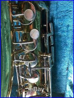 1940s Holton Collegiate Alto Sax Very High-Quality Needs Restoration Withcase