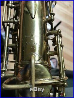 1949-1950 C. G. Conn Alto Sax M Series Naked Lady