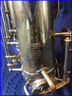 1950 Buescher Top Hat Cane TH&C Alto Sax Saxophone B7 True Tone Player's Horn