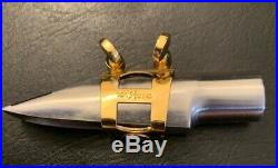 1980s Beechler Belite #7 alto sax mouthpiece with optional Ishimori Ligatures