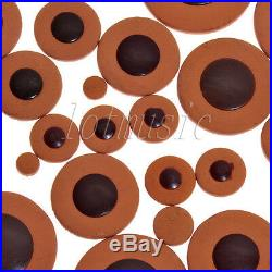 20 Sets Alto Saxophone Pads Deluxe Orange Leather Pads for Sax Parts