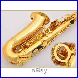 2019 JUPITER JAS-769 Saxophone Alto Eb Tune Gold Lacquer Sax + Case HOT SALE
