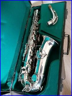 50's extremely rare alto saxophone Rampone Cazzani rolled tone holes vintage sax