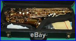 ALTO SAXOPHONE Eb+Fa# 475 STYLE GOLD LAQUER NEW ORLEANS FREE DVD + REEDS 10 PCS
