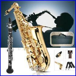 Alto Eb Tune Saxophone Drop E Gold Lacquer With Storage Bag Case Instrument Parts