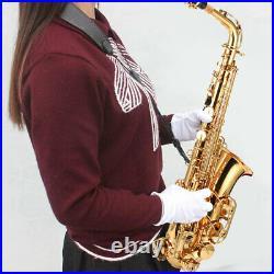 Alto Saxophone Brass Lacquered Gold E Flat Sax 82Z Key Woodwind Instrument