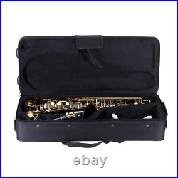 Alto Saxophone Brass Lacquered Gold E Flat Sax 82Z Key Woodwind Instrument F5P6