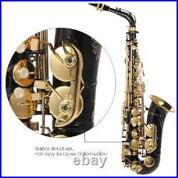 Alto Saxophone Brass Lacquered Gold E Flat Sax 82Z Key Woodwind Instrument R7X4