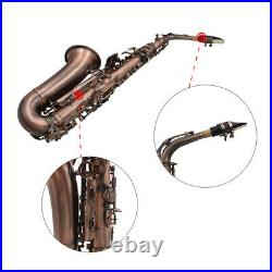 Alto Saxophone Red Bronze Eb Sax Carve Pattern with Case Mouthpiece Reeds I7T8