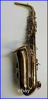 Alto Saxophone in Gold Lacquer Sax For Restoration Project Stage Prop Parts