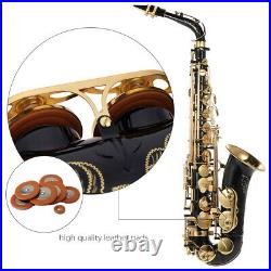 Alto Saxphone Brass Lacquered Gold E Flat Sax 82Z Key Type with Padded Case E6E1