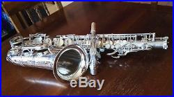 Alto saxophone Selmer Mark vi silver plated! Completely overhauled sax