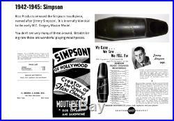 Amazing Rare Vint 1942-45 Simpson Hollywood Tenor Sax Mouthpiece 0 #1472.95 Tip