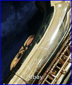 Ammoon Alto Saxophone Brass Lacquered Gold 802 Key Eb E Flat Sax + Padded Case