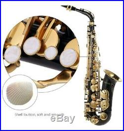 Ammoon Professional Eb Alto Saxophone Brass Lacquered Gold E Flat Sax 82Z Key