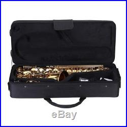 Andoer Alto Saxophone Brass Lacquered Gold E Flat Sax Rarely Used