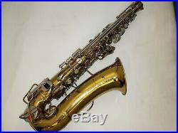 BUESCHER ARISTOCRAT Alto SAX SAXOPHONE With CASE and Stem Musical Instrument