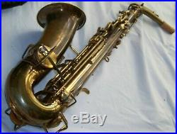 BUESCHER later-model TRUE-TONE ALTO SAXOPHONE GREAT PADS / GREAT PLAYING SAX