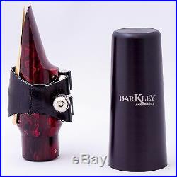 Barkley POP 8 KUSTOM RED alto sax mouthpiece with ligature & cap GREAT SOUND
