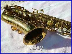 Beautiful Original Buescher Aristocrat Alto Sax Model 140'Big B' Style 1950