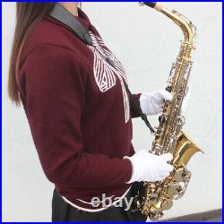 Brass Alto Saxophone Eb E Flat Sax + Case Mouthpiece for Beginner Students A9F9