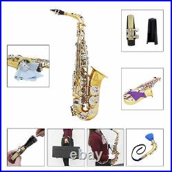 Brass Alto Saxophone Eb E Flat Sax + Case Mouthpiece for Beginner Students W3G4