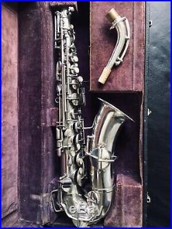 Buescher Quadruple Silver Plated Collectible True Tone Alto Sax SN46286 Mod 1A