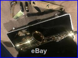 Bundy Selmer II Alto Saxophone USA with Hardshell Case W 2 Mouth Pieces Sax