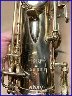 C. G. Conn Alto Sax Saxophone 1914 Elkhart In With Original Case
