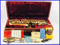 Conn 28m Connstellation Alto Sax MINTY with40 PAGE MANUAL, LAQ CARD, WARRANTY CARD