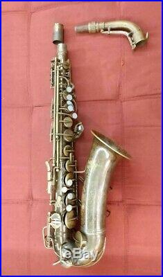 Conn 6M Naked Lady Alto Sax 1937-1938 Serial Number 282. Xxx. Original lacquer