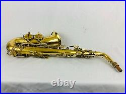 Conn Gold Plated Transitional 6m Alto Sax with FULL ENGRAVED SUN GODDESS Art Deco