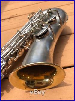 Conn Transitional Alto Saxophone 6M features sax silver vintage 1932 deco CLEAN
