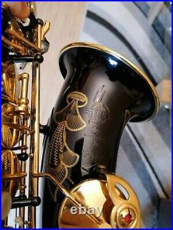 Cool and rare Selmer Super Action 80 alto saxophone black lacquer finisch, sax