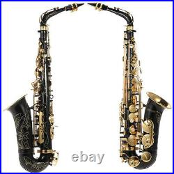 Eb Alto Saxophone Brass Lacquered Gold 82Z Key Type Sax with Case Care Kit I3W2