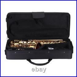 Eb Alto Saxophone Brass Lacquered Gold E Flat Sax 802 Key Type Instrument N2W1