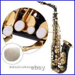 Eb Alto Saxophone Brass Lacquered Gold E Flat Sax 82Z Woodwind Instrument T9K2