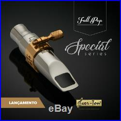 Ever-Ton Full Pop 7 Special Series Stainless Steel Alto Sax Mouthpiece & Lig
