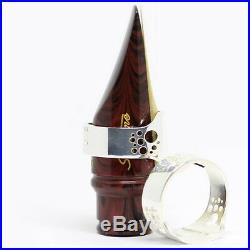 Ever-Ton RING Metal Silver LIGATURE for alto sax mouthpiece with cap