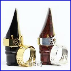 Ever-Ton Ring Metal Gold LIGATURE for alto sax mouthpiece with cap