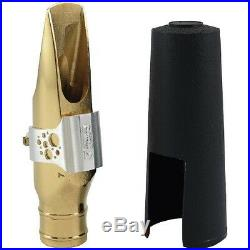 Ever-Ton Strength #8 Metal Gold Plated Alto Sax Mouthpiece Made in Brazil
