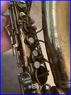 Gorgeous Conn 6M Alto Sax 1935. Naked Lady, Rolled Tone Holes, And Overhauled